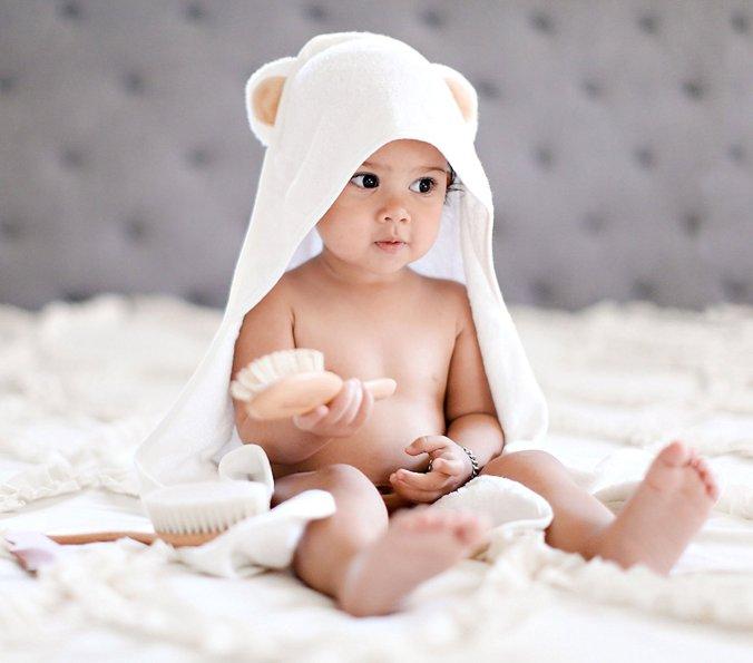 hooded fuzzy ear towel